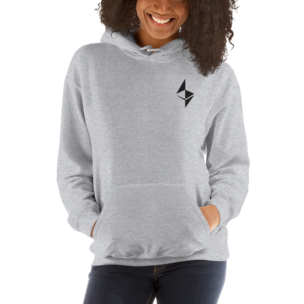 Ethereum surface design – Women's Embroidered Hoodie