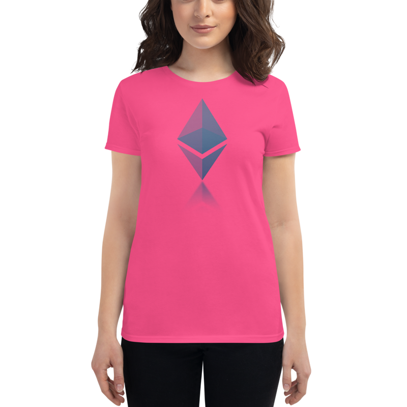 Ethereum reflection design - Women's Short Sleeve T-Shirt