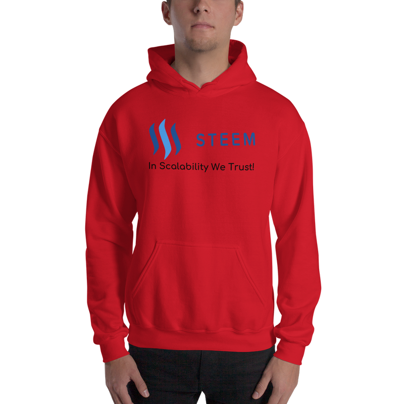 In scalability we trust (Steem) – Men's Hoodie