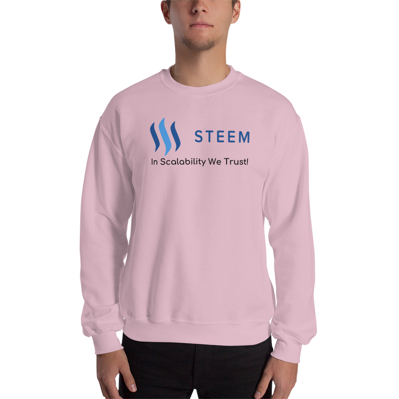 In scalability we trust (Steem) – Men's Crewneck Sweatshirt