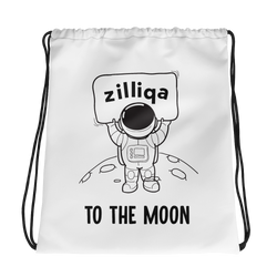 Zilliqa to the moon - Drawstring Bag