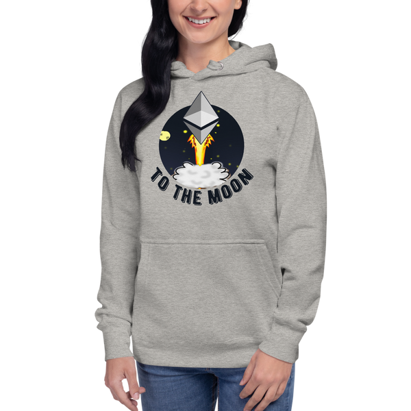 Ethereum to the moon – Women's Pullover Hoodie