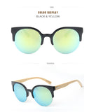 BFW1035 Bamboo Round Cat-Eye Sunglasses – UNISEX