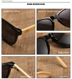 Bamboo classics UV400 mirrored lens