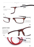 9001 ADJUSTABLE MAGNETIC READING GLASSES – UNISEX