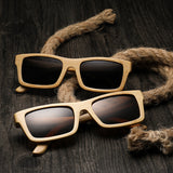 31010-01 Retro bamboo polarized sunglasses