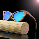 Handmade Exotic Wood cat-eye sunglasses