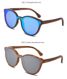 Retro Horn Rimmed Wooden Sunglasses