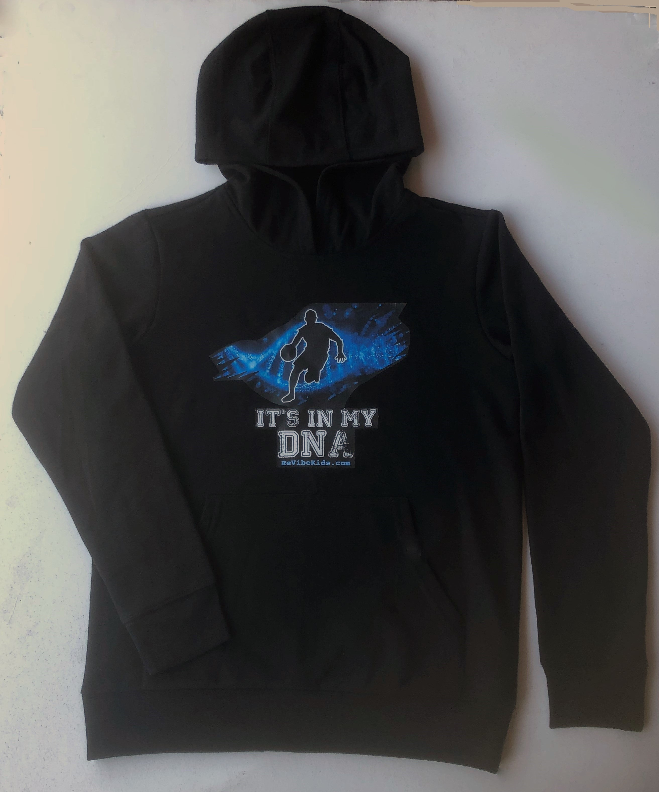 100% Recycled Kids Basketball Hoodie It's In My DNA
