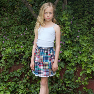 Multi Color Plaid Skirt