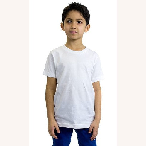 Kids Organic Cotton Crew Neck Tee
