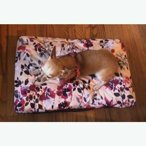 Paris Floral Pet Bed Cover Handmade