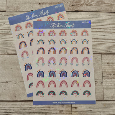 Rainbow Holographic Stickers - CUTE 002