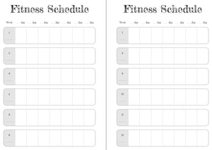 Skulls 12 Week Exercise Diary