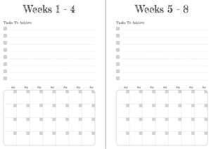 Blue Solid Stripes 12 Week Food and Daily Life Diary