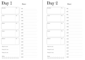 Wedding personalised 12 Week Food and Daily Life Diary