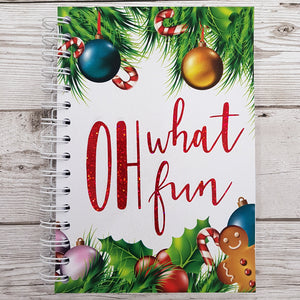 Christmas Oh What Fun 12 Week Food and Daily Life Diary