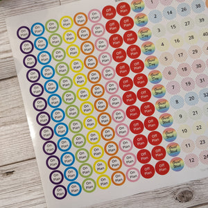 Large set of Weight Loss Stickers