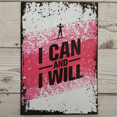 I can and I will (Female Figure) 8 and 12 Week Organiser Refill