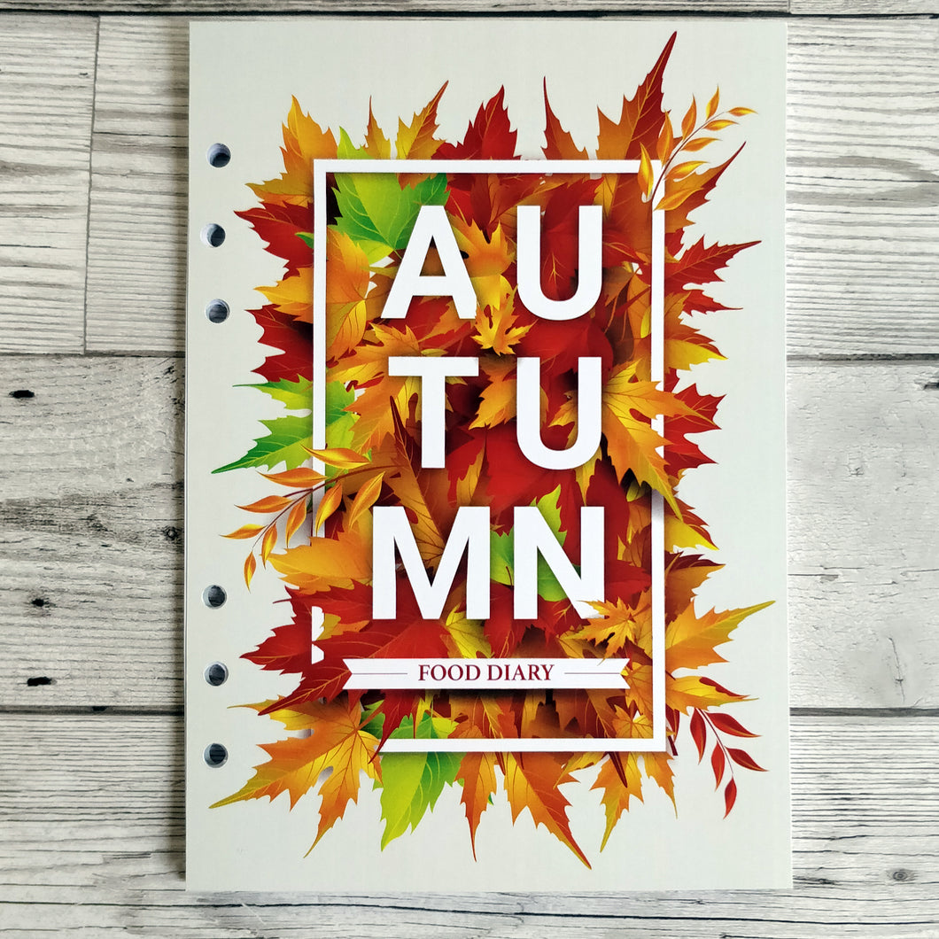 Autumn Leaves 6 Months Maintenance Diary Inserts