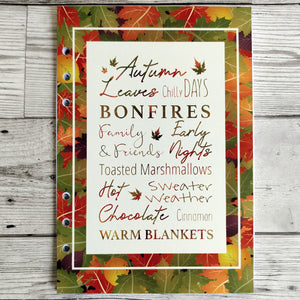 Autumn Words 8 and 12 Week Organiser Refill