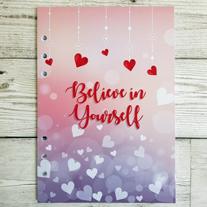 Believe in Yourself (Hearts) 8 and 12 Week Organiser Refill