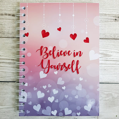 Believe in Yourself (Hearts) 8 and 12 Week Food Diary