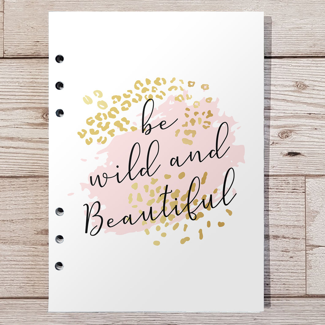 Be Wild & Beautiful 8 and 12 Week Organiser Refill