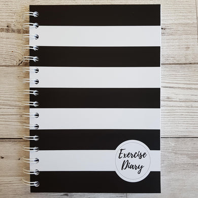 Black Stripe 12 Week Exercise Diary