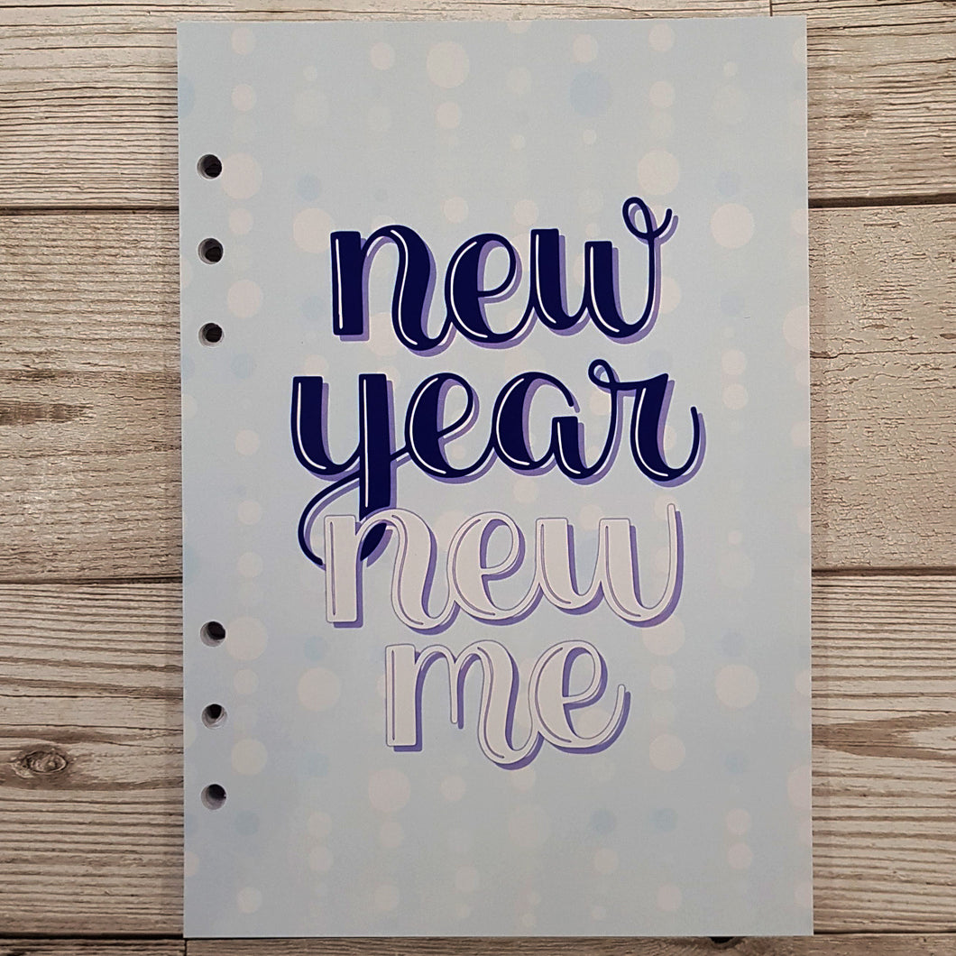 Blue New Year New Me 6 Months Maintenance Diary Inserts