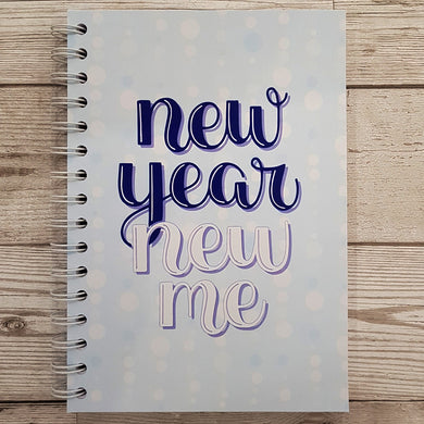 Blue New Year New Me 8 and 12 Week Food Diary