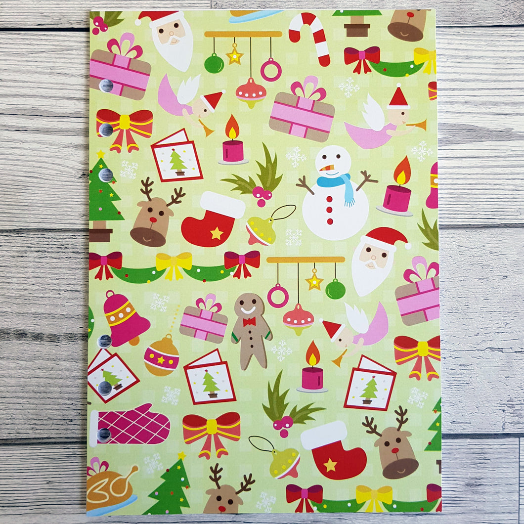 Christmas Fun 12 Week Food and Daily Life Diary Refills