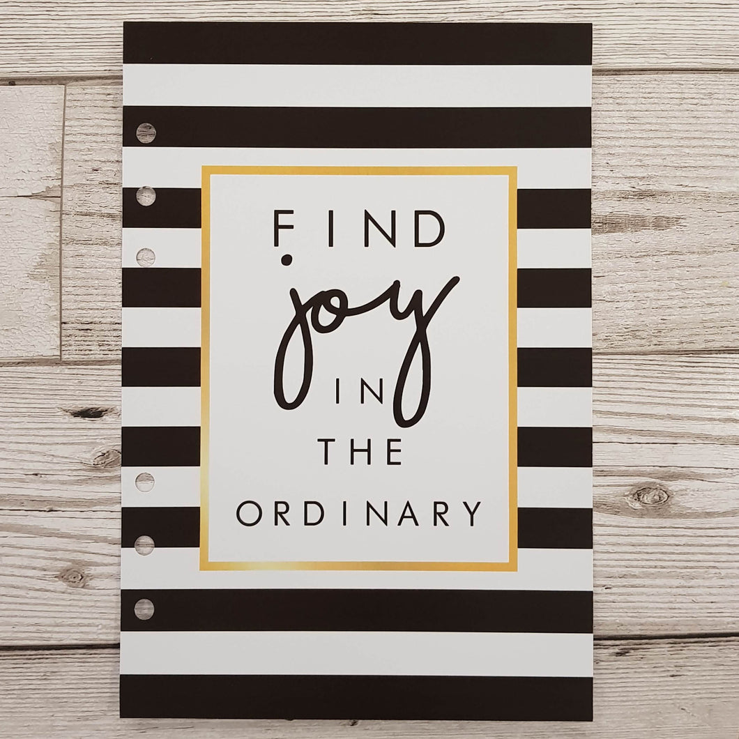 Find Joy in the Ordinary 8 and 12 Week Organiser Refill