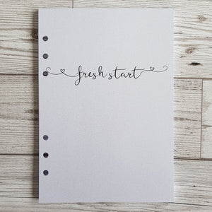 Pearlised Fresh Start 12 Week Food and Daily Life Diary Refills