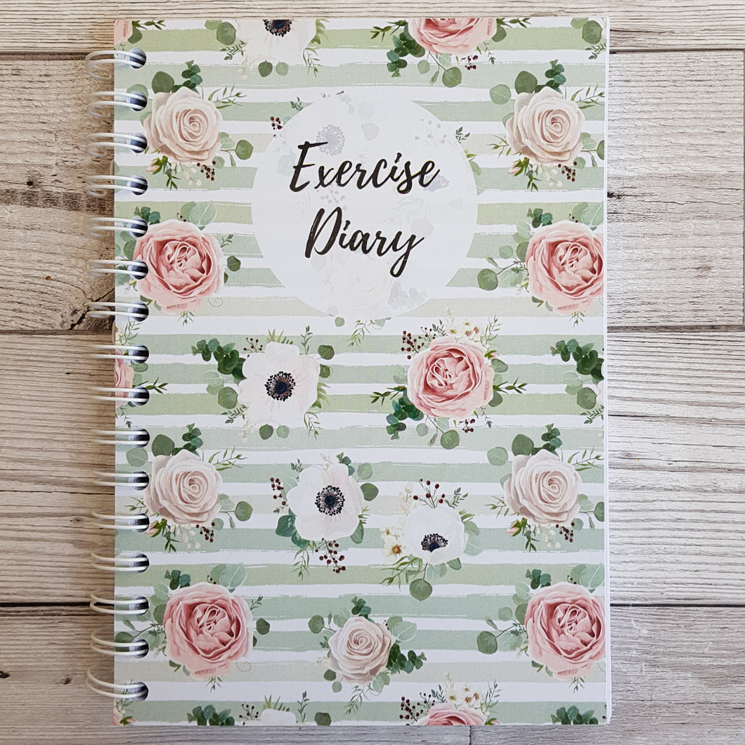 Green Floral 12 Week Exercise Diary