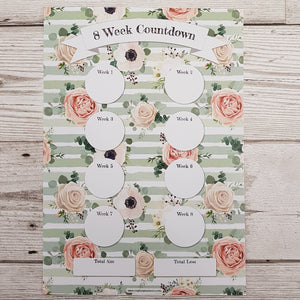Green Floral Countdowns