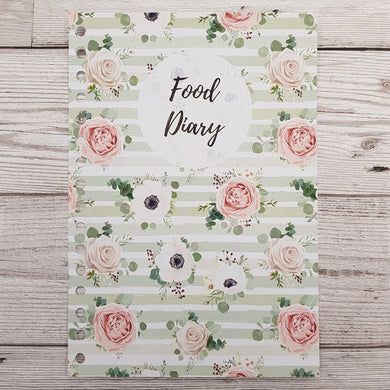 Green Floral 8 and 12 Week Food Diary