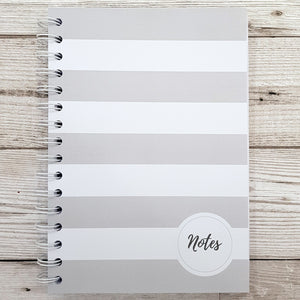 Grey Stripe Note and To-do Pad