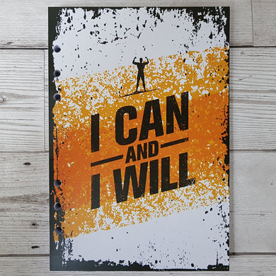 I can and I will (Male Figure) 8 and 12 Week Organiser Refill