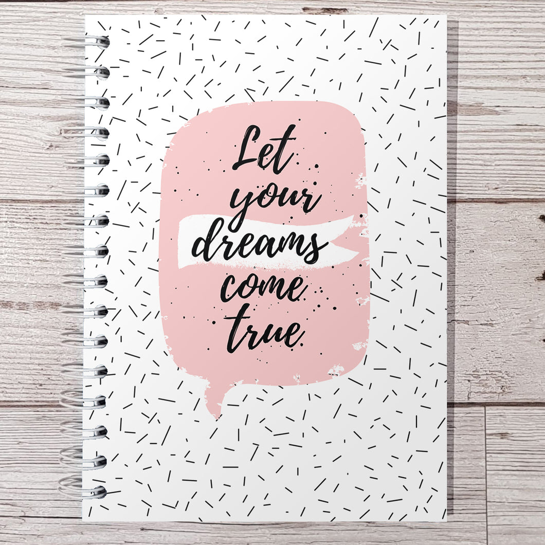 Let your dreams come true 8 and 12 Week Food Diary
