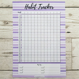 Purple Stripe Habit Tracker