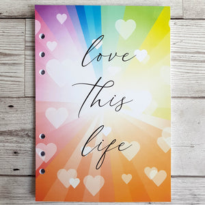 Love this life 6 Months Maintenance Diary Inserts