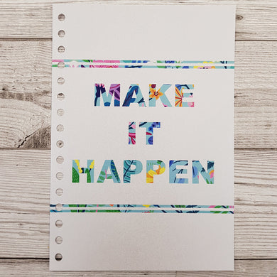 Make it Happen 12 Week Food and Daily Life Diary