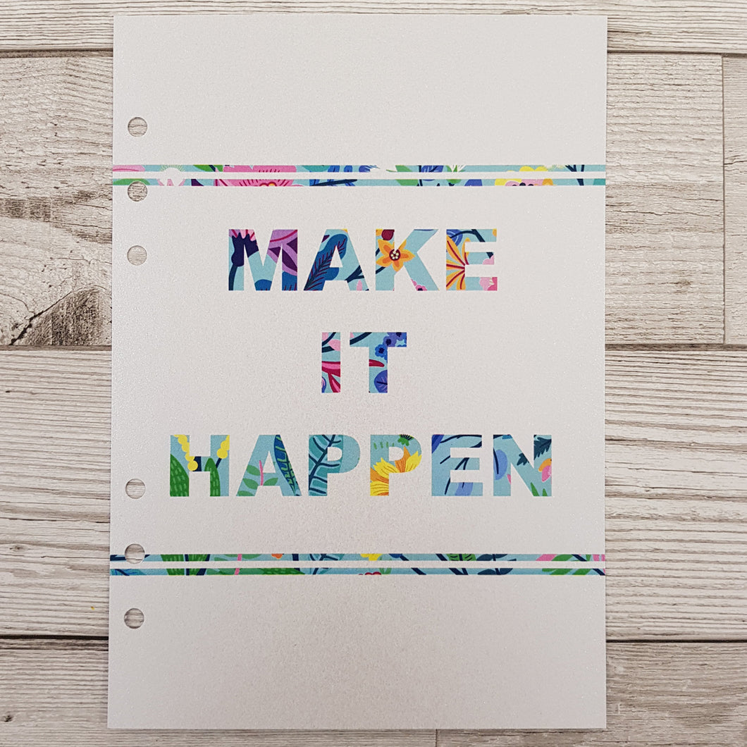Make it Happen 12 Week Food and Daily Life Diary Refills