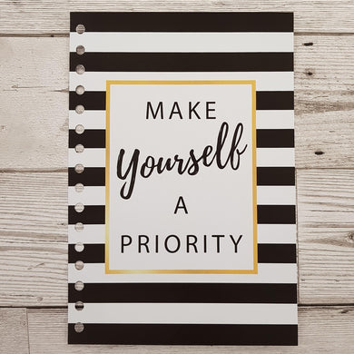 Make Yourself A Priority 12 Week Food and Daily Life Diary