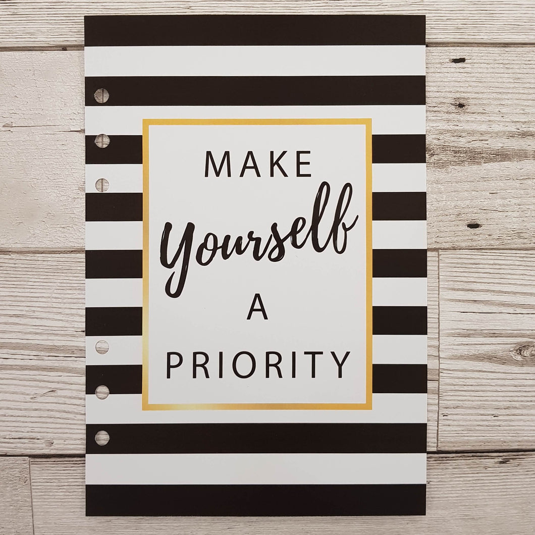 Make Yourself a Priority 8 and 12 Week Organiser Refill