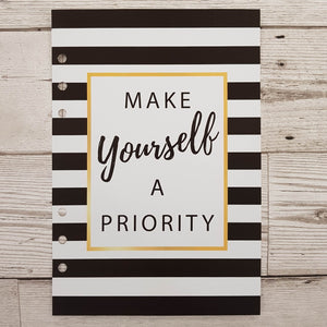 Make Yourself a Priority 6 Months Maintenance Diary Inserts