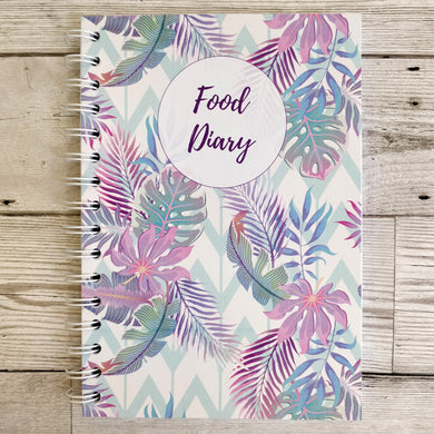 Pastel Tropical 8 and 12 Week Food Diary