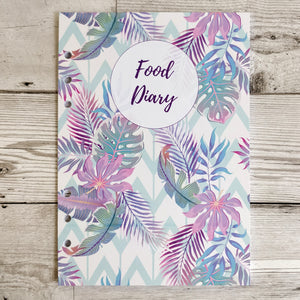 Pastel Tropical 12 Week Food and Daily Life Diary Refills