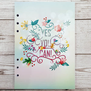 Yes You Can 6 Months Maintenance Diary Inserts